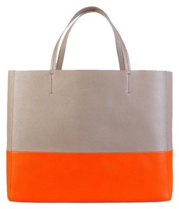 Cline Celine Celine Bicabas Tote in Beige & Orange