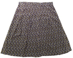 Sag Harbor Skirt Black wwith Gray and Yellow Geometric Print