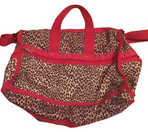LeSportsac Leopard And Red Travel Bag