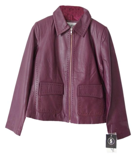 Monterra Eggplant Leather Jacket