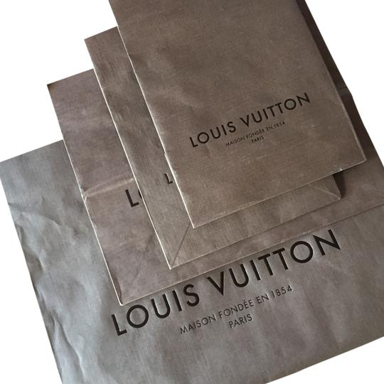 Louis Vuitton Signature Paper Set 4 Lv Tote in brown