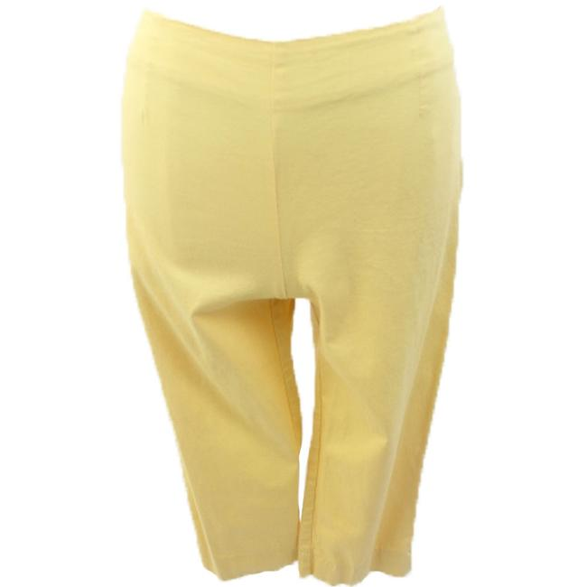 Willi Smith Woman Designer Stretch Capris Yellow