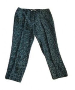 Ann Taylor LOFT Straight Pants Turquoise, black, and white