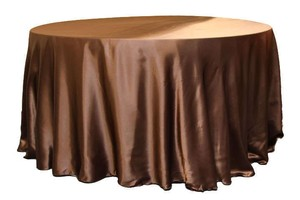 Chocolate/Mocha Brown Set Of 10 Tablecloth
