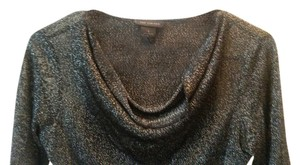 The Limited Sparkle Formal Cowlneck Scoop Neck Winter Top black