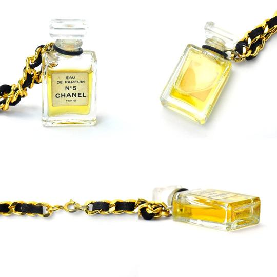 Chanel Chanel No 5 Perfume Necklace Gold Chain