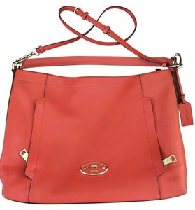 Coach Scout Orange Leather Hobo Bag