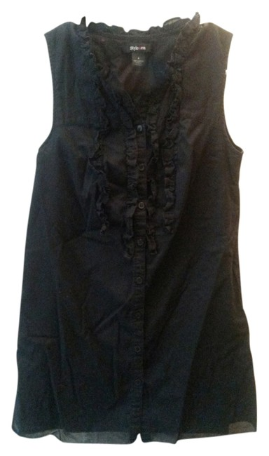 Preload https://item1.tradesy.com/images/style-and-co-black-tank-button-down-top-size-4-s-3119575-0-0.jpg?width=400&height=650