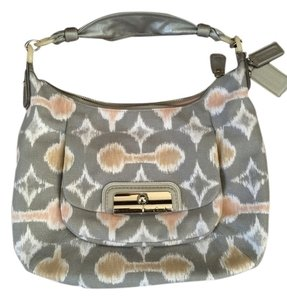 Coach Hobo Silver Grey Handbag Shoulder Bag