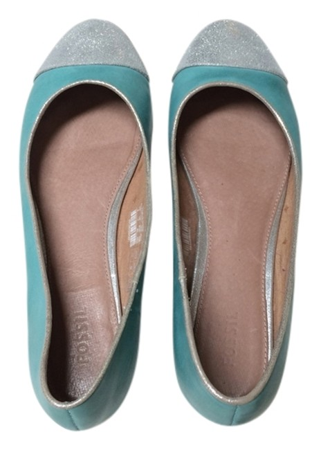 Item - Turquoise and Silver Ffw4377440 Flats Size US 9 Regular (M, B)