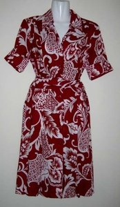 Red Maxi Dress by Chadwicks Baby Romper Matching Mom And Daughter Shirt Button Down Belted Vintage