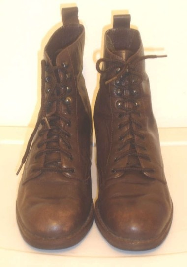 Nine West 9west Lace Up Vintage Vintage Leather Leather Leather Lace-up Brown Boots