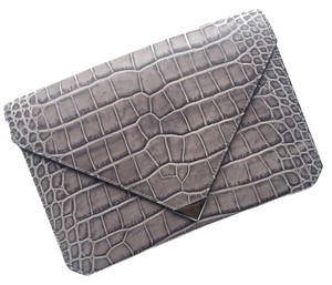 Alexander Wang Crocodile Leather Downtown Oyster Clutch