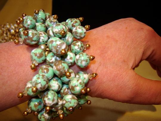 Handmade Artisinal crafted beaded bracelet on timex watch band