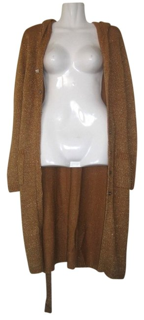 Preload https://item4.tradesy.com/images/bcbgmaxazria-gold-duster-sweatshirthoodie-size-10-m-312013-0-0.jpg?width=400&height=650