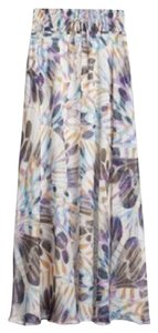 Anthropologie Maxi Silk Maxi Skirt