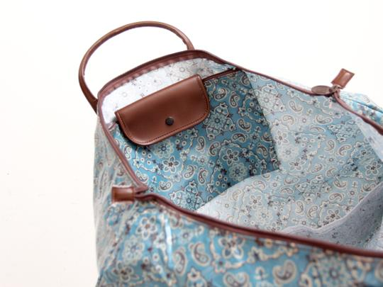 Two's Company Overnight Paisley Blue Travel Bag