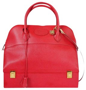 Hermès Vinatge Rare Train Case Bolide Tote in Red