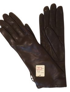 Other NWT- PERUZZI LONG BROWN CASHMERE LINED GLOVES MADE IN ITALY