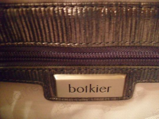 Botkier Leela Dark Metal Leather Handbag New Crossbody Strap Silver Clutch
