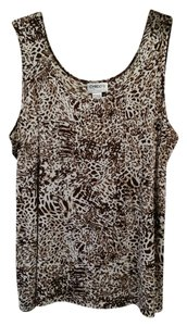 Chico's Top Brown/Tan Animal Print, Size 3