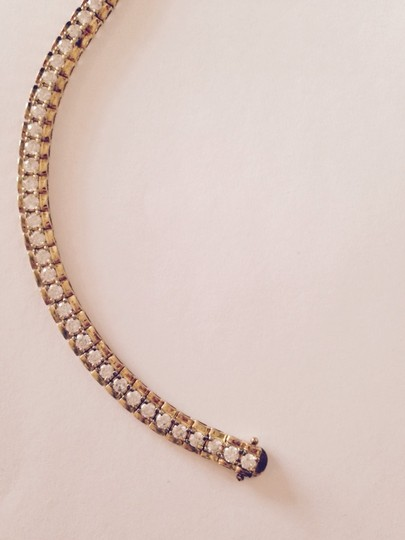 Other Tennis Bracelet, Gold-Plated Sterling Silver