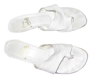 Christian Louboutin Summer Lambskin White Sandals