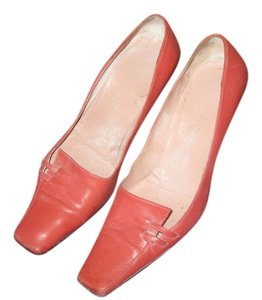 Sergio Rossi Orange Stylish Coral Flats