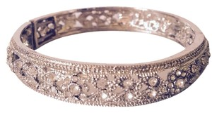 A.B.S. by Allen Schwartz Crystal & Silver-Tone Stretch Bangle