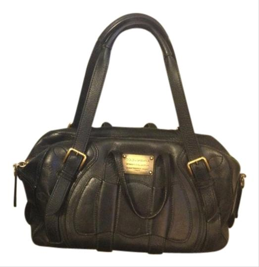Preload https://item3.tradesy.com/images/dolce-and-gabbana-miss-class-black-leather-with-fabric-interior-satchel-3121192-0-0.jpg?width=440&height=440