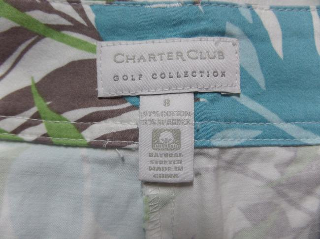 Charter Club Skort White with Blue Tropical Print