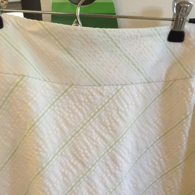 Ann Taylor Skirt Cream With Yellow And Green Stripes