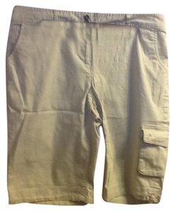 Liz & Co. Summer Comfortable Pockets Casual Cargo Shorts Light Brown