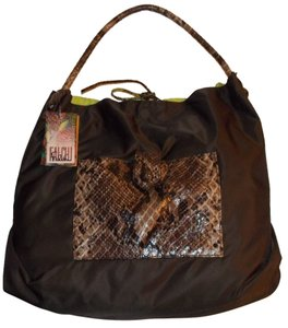 Carlos Falchi Tote in Brown/Green