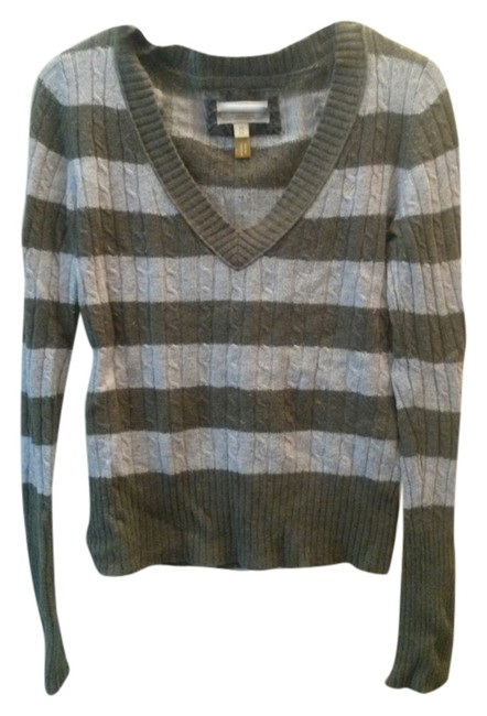 American Eagle Outfitters V-neck Striped Fall Sweater
