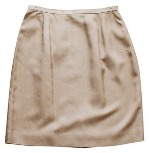 Ann Taylor LOFT Structured Skirt Taupe