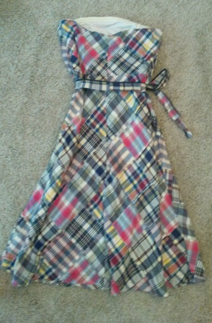 American Eagle Outfitters short dress plaid Patchwork Spring Summer on Tradesy