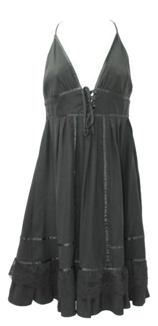 Preload https://item3.tradesy.com/images/foley-satin-and-lace-trim-halter-black-silk-above-knee-short-casual-dress-size-4-s-3121717-0-0.jpg?width=400&height=650