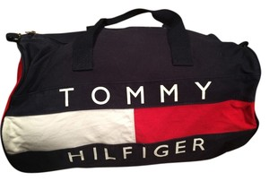 5b054465e4 Tommy Hilfiger Suitcase Tote Large Shoulder Canvas Th Red White Blue Travel  Bag