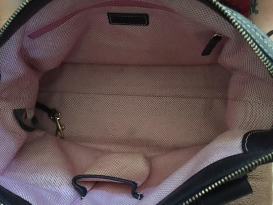 Dooney & Bourke Double Pocket Signature Satchel in Back and Gold