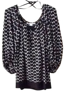 Diane von Furstenberg Top Black And White Print