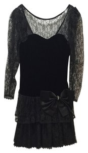 Steppin' Out Vintage Lace Velvet Dress