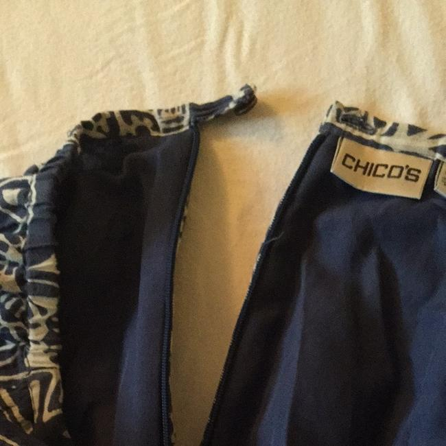Chico's Skirt Blue With White Print