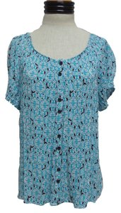 Croft & Barrow Top Blue