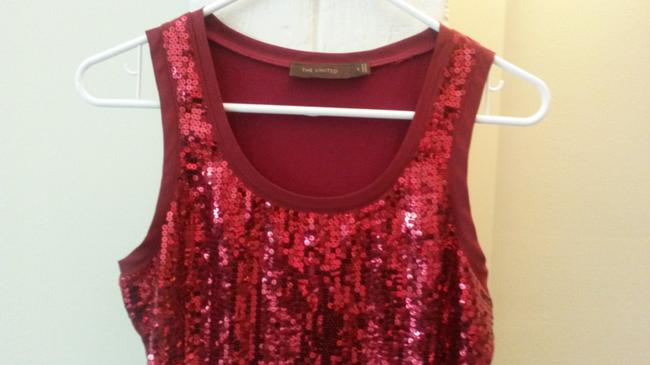 The Limited Sequin Top red