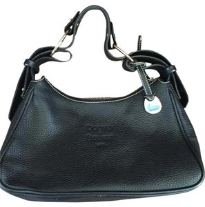 Dooney & Bourke And Pebbled Leather Hobo Bag