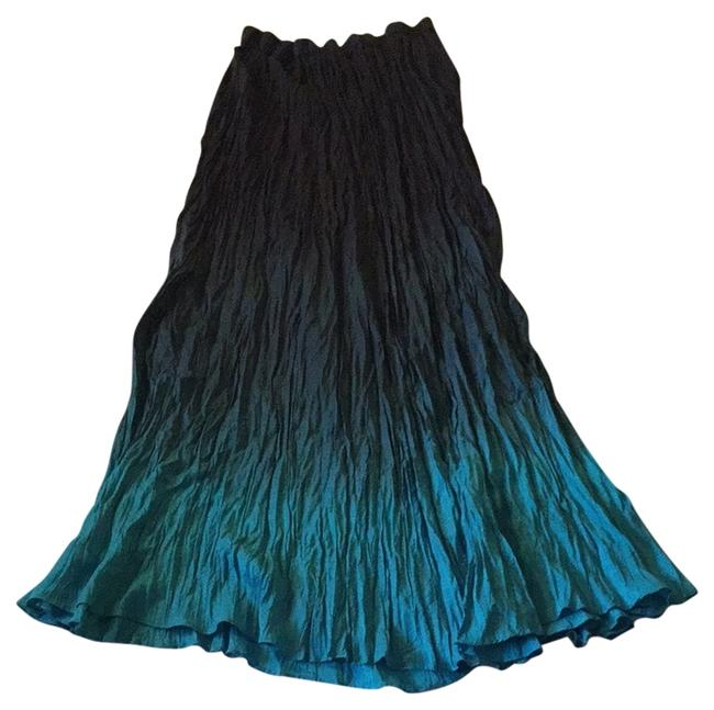 Chico's Skirt Dip Dye Blue