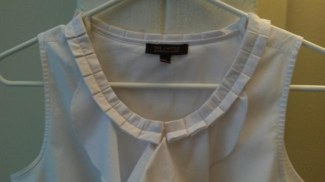 The Limited Ruffles Collared Button Down Shirt white