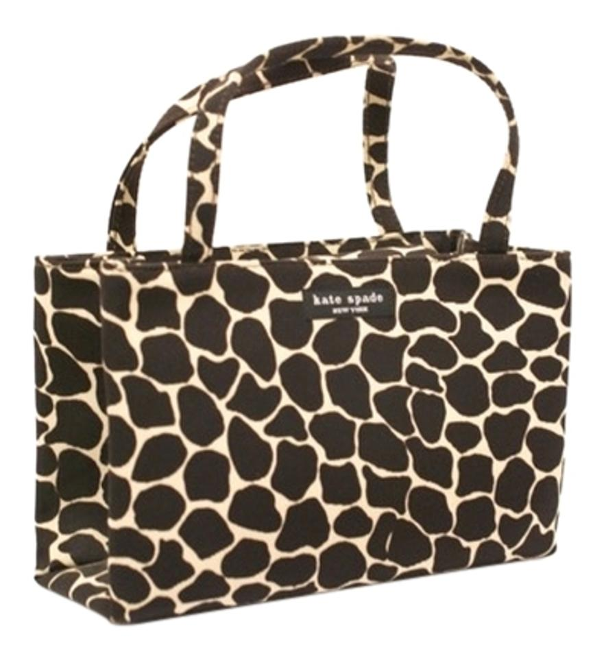 Kate Spade Tote In Chocolate Ivory Animal Print