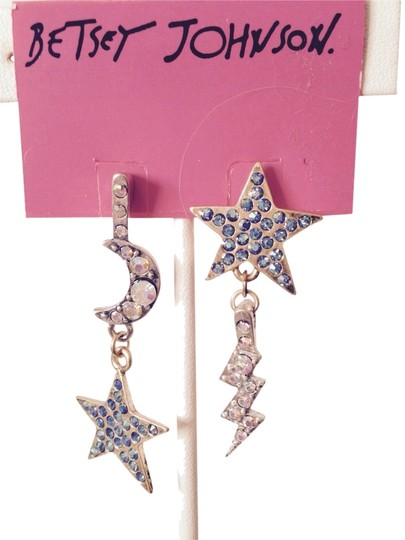 Betsey Johnson Betsey Johnson Stargazer Multi-Color Rhinestone Dangle Earrings Only! Matching Pieces Sold Seperately.